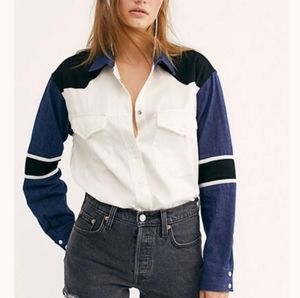 NWT Levis Made & Crafted Western Mix Up Shirt